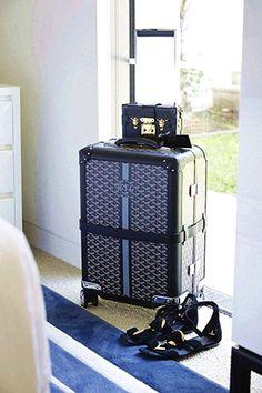 Goyard Bourget suitcase via @beauticate @roxyjacenko #bags