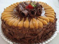 Torta de Chocolate com Doce de Leite