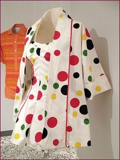 Polka-dot cotton bathing suit and jacket by Margit  Fellegi for Cole of California, American, c. 1950.