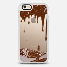 Dripping chocolate transparent case - New Standard iPhone 6 Case in Clear and Clear by Marta Olga Klara | @casetify