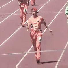 How Baekhyun reaches the finish line.... #1 (gif)