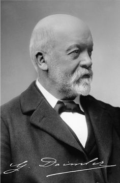 Gottlieb Daimler (1834) was a German engineer, industrial designer and inventor. Together with his lifelong business partner Wilhelm Maybach his goal was to create small, high-speed engines to be mounted in any kind of locomotion device. In 1890 they founded Daimler Motoren Gesellschaft, in 1890 they sold their first automobile. In 1924 the DMG management signed a long term co-operation agreement with Karl Benz's Benz & Cie. and in 1926 the two companies merged to become Daimler-Benz AG.