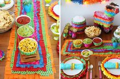 """Hola! Ready to get your Cinco de Mayo on? This is one of our all time fave party decor concepts because it's foolproof! You can use any colored tissue paper you like, but we recommend using bright bold colors if you want to give it that Cinco de Mayo look. There's really no wrong way to go when """"piñata-ing"""" your party decor."""