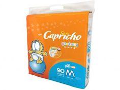 Fralda Capricho Garfield Baby M 90 Unidades - com Indicador de Umidade e Tecnologia Respirável