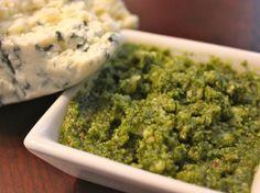 Gorgonzola and Basil Pesto- a tangy twist on classic pesto