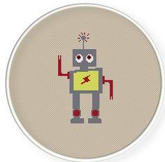 Instant Download,Free shipping,Cross stitch pattern, Crossstitch PDF,Dancing lightning robot,zxxc0202 via Etsy