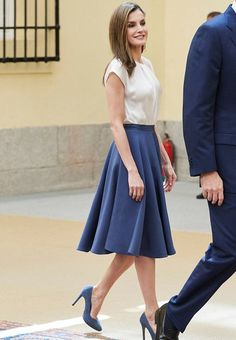 King Felipe and Queen Letizia of Spain attend the annual meeting with the members of the Boards of Trustees of the Princess of Asturias Foundation (FPA) at the Royal Palace of El Pardo in Madrid on June 16, 2017 in Madrid, Spain
