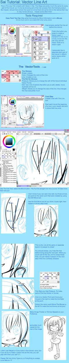 SAI Tutorial: Vector Line Art by SakuraChan776