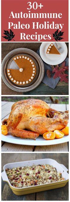 30+ Autoimmune Paleo Holiday Recipes @ Healy Eats Real #aip #paleo #autoimmune #holiday #thanksgiving #christmas