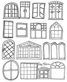Windows Illustration by Robyn McKeown #robynmckeowndesign