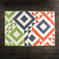 Mix & Match Triangle Jitters Quilt from SuzyQuilts