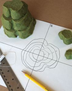 Create a Contour Map out of dough! What a great hands-on lesson!