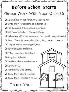 Meet the Teacher – Back To School – Letters to Parents - Kindergarten Preschool Assessment, Kindergarten Readiness, Preschool At Home, Preschool Kindergarten, Kindergarten Graduation, Kindergarten School Supply List, Preschool Parent Board, Kindergarten Routines, Early Education