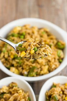Vegetable Fried Rice with Lentils - The Cookie Writer