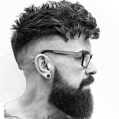 High Skin Fade with Messy Tousled Hair