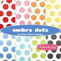 Ombre Dots Fat Quarter Bundle Riley Blake Designs - Fat Quarter Shop