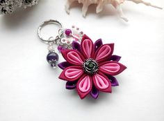 Personalized Womens Keychain/Beaded Keychain/Gift by AirinFlowers