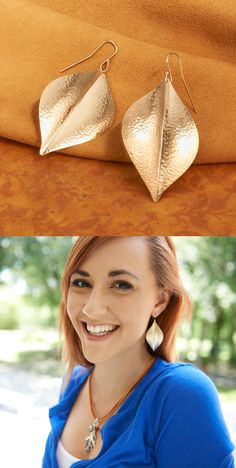 New Repousse Leaf Ear Hooks from James Avery Jewelry #jamesavery