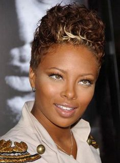Short Haircuts For Black Women - (I like the curl, not the color)