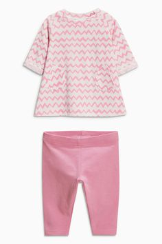 Buy Pink Chevron Stripe Tunic And Leggings Set (0-18mths) online today at Next: Mexico