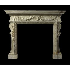 A George II grey viened white marble chimneypiece circa 1735, the design attributed William Kent - Sotheby's