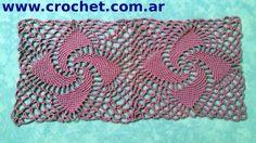Unión del Motivo N° 8 en tejido crochet tutorial paso a paso.