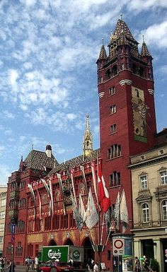Town Hall ,Basel, Switzerland.