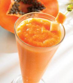 Jugo de Papaya, melon y uva - Si sufres de gastritis, este jugo te caerá de maravilla.