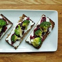 Recipe for Sm�rrebr�d Sandwich with Onion Jam and Broccoli, adapted from Nicolaus Balla, Bar Tartine, San Francisco