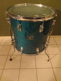 Vintage Tama Superstar Super Aqua Marine 16x16 Floor Tom Drum Ebay