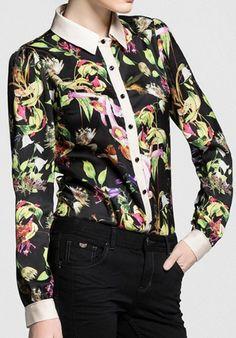 Color Block Stylish Shirt   dresslily.com