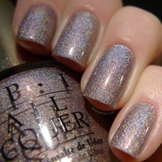 OPI DS Diamond OPI DS Diamond is a very old shade part of the Designer series. The base is a purplish nude with a scattered holographic finish. Nail Polish Art, Nail Art, Nail Polishes, Hot Nails, Hair And Nails, Fancy Nails, Pretty Nails, Manicure E Pedicure, Colorful Nail Designs