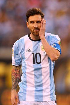 Lionel Messi of Argentina looks on against Chile during the Copa. Messi Argentina, Messi 2016, Chile, God Of Football, Copa America Centenario, Penalty Kick, Messi Photos, Leonel Messi, Uefa Champions