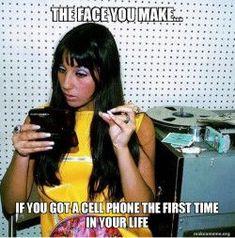 Cher using Babylonokia