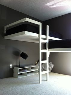 Innovative and Unique Bunk Beds for Boys : Really Cool Bunk Beds The Best of inerior design in - Home Decoration - Interior Design Ideas Unique Bunk Beds, Modern Bunk Beds, Cool Bunk Beds, Bunk Bed Ideas For Small Rooms, Small Modern Bedroom, Stylish Bedroom, Cabin Beds For Teenagers, Bunkbeds For Small Room, Boys Bunk Bed Room Ideas