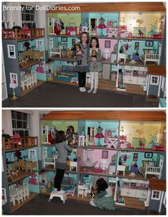 """Lighting is the GRAND FINALE for my series on """"Decorating Your Dollhouse."""" I love the way the dollhouse looks all lit up at night! My daughters would play 24 hours a day if I would let them! Of c…"""