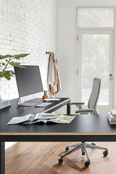 contemporary home office chairs. L-shaped Office Desk With Steel Base. Modern Home Chairs Contemporary Y