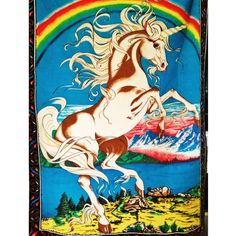 Vintage Unicorn Rainbow Tapestry. Ready to Bring the Magic to Your wall.. $20.00, via Etsy.