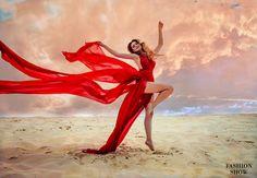 Взять в прокат Женская одежда Платья Красное платье с разрезами Москва