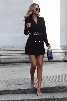 Wie man den Blazer trägt: Wort des Influencers - Mode - Best Of Women Outfits Elegant Outfit, Classy Dress, Classy Outfits, Chic Outfits, Fashion Outfits, Blazer Fashion, Classy Girl, Fashion Clothes, Trendy Outfits