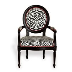 THE WELL APPOINTED HOUSE - Black and White Zebra Armchair-Set of Two