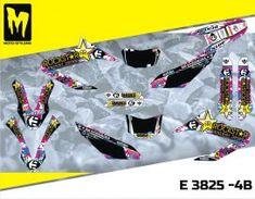 E 3825 - Yamaha R & X High quality graphics decal kit. Moto-StyleMX, premium manufacturer of dirt bike decals. Yamaha Wr, Custom Design, Decals, Graphics, Kit, Tags, Graphic Design, Sticker, Decal