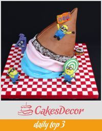 a big big ice cream cake and minions my cakes pinterest big