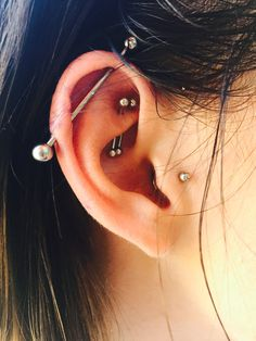 industrial, double rook, tragus