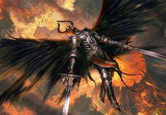 Batalhas, monstros e demônios nas ilustrações de mundos de fantasia de Mateusz Ozminski