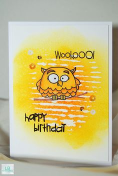 Wooohoo! Happy Birthday card by Lisa - Paper Smooches
