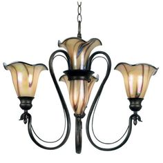 With a slightly floral look, this charming five-light chandelier looks ideal in any space. The ironwork is set in a Tuscan silver finish that looks elegant, and the 72-inch chain makes sure you can hang the chandelier at just the right height.