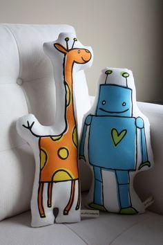 Giraffe Pillow. $25.00, via Etsy.