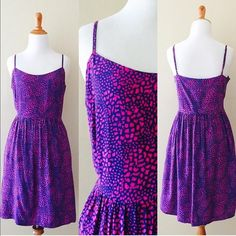 GAP pink & purple animal print sundress Comfortable & cute for Summer. This is a great throw on and go dress. Shell: rayon, lining: cotton Features: built-in slip and hidden side pockets; adjustable straps. GAP Dresses