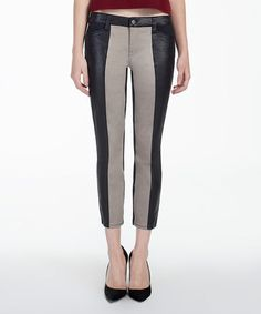 This Black & Taupe Elusive Nora Straight Jeans is perfect! #zulilyfinds